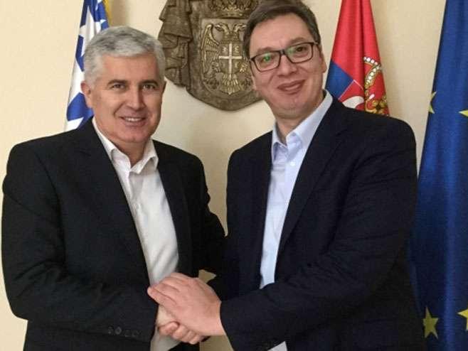 Čović i Vučić u Beogradu o infrastrukturnim projektima, odnosima Srba i Hrvata….