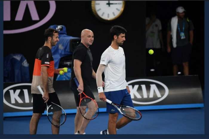 Novak i Agasi odradili prvi trening