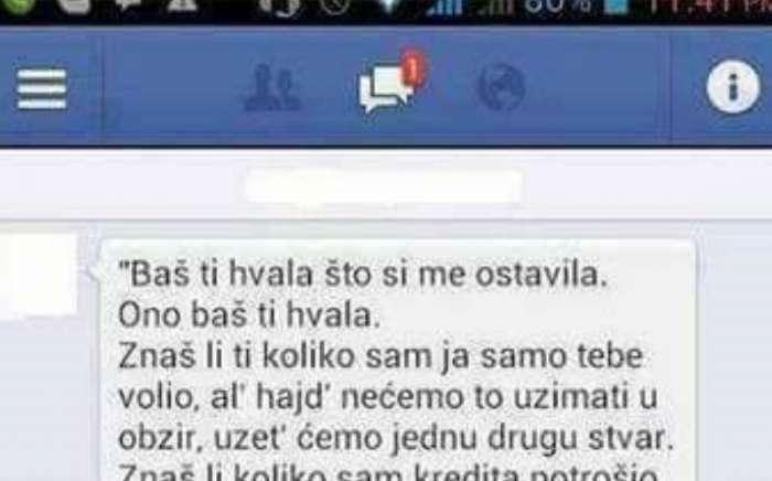 Razočarani Bosanac napisao je bivšoj zadnju poruku, a njegovo jadikovanje postalo je hit na društvenim mrežama!