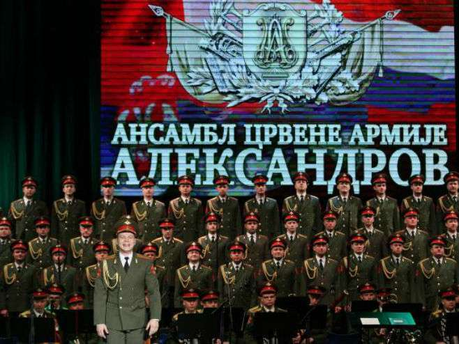 Ansambl Aleksandrov u punom sastavu 23. juna u Beogradu