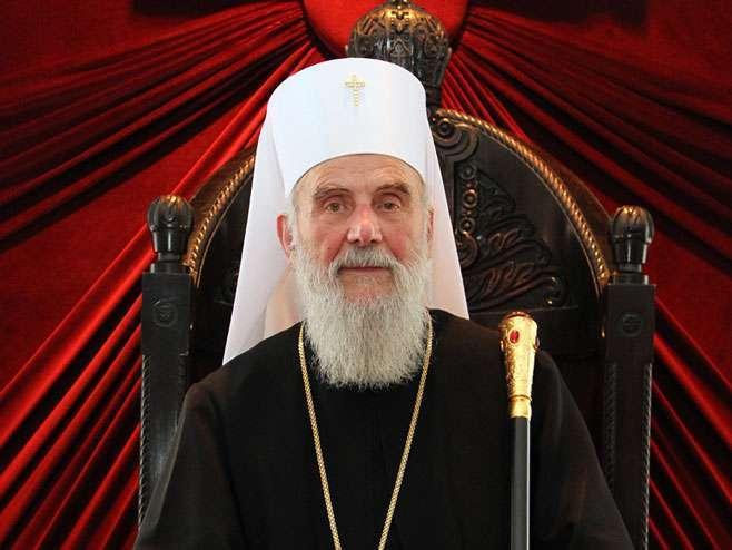 Patrijarh Irinej iduća dva dana u Podgorici