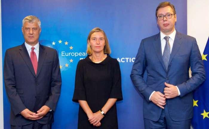 Vučić i Tači u Briselu 18. jula