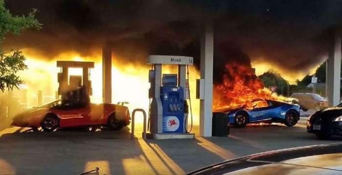 """Zaboravio izvaditi crijevo iz rezervoara, pa na benzinskoj pumpi zapalio """"lamborgini"""" (VIDEO)"""