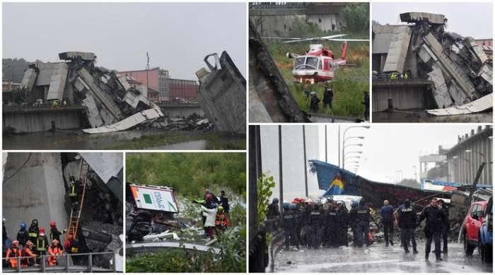 Srušio se vijadukt u Đenovi – najmanje 35 mrtvih
