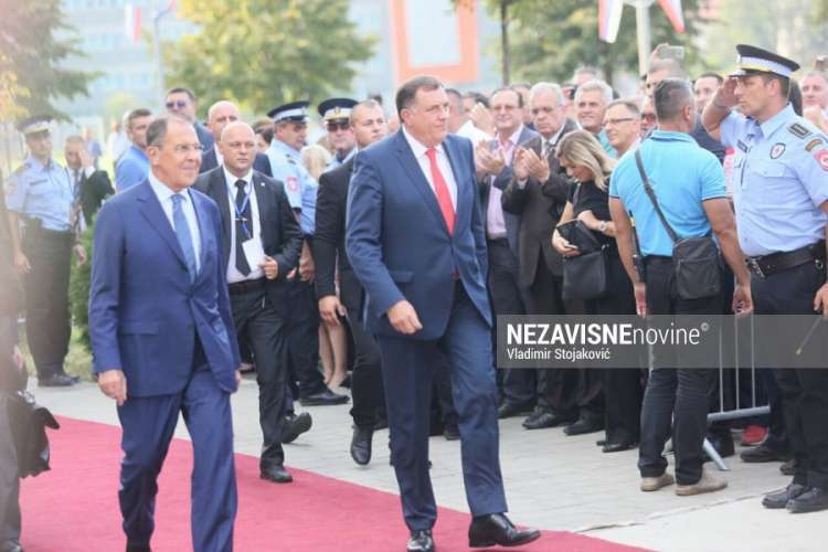 Lavrov stigao u Banjaluku, kreće u obilazak rusko-srpskog hrama