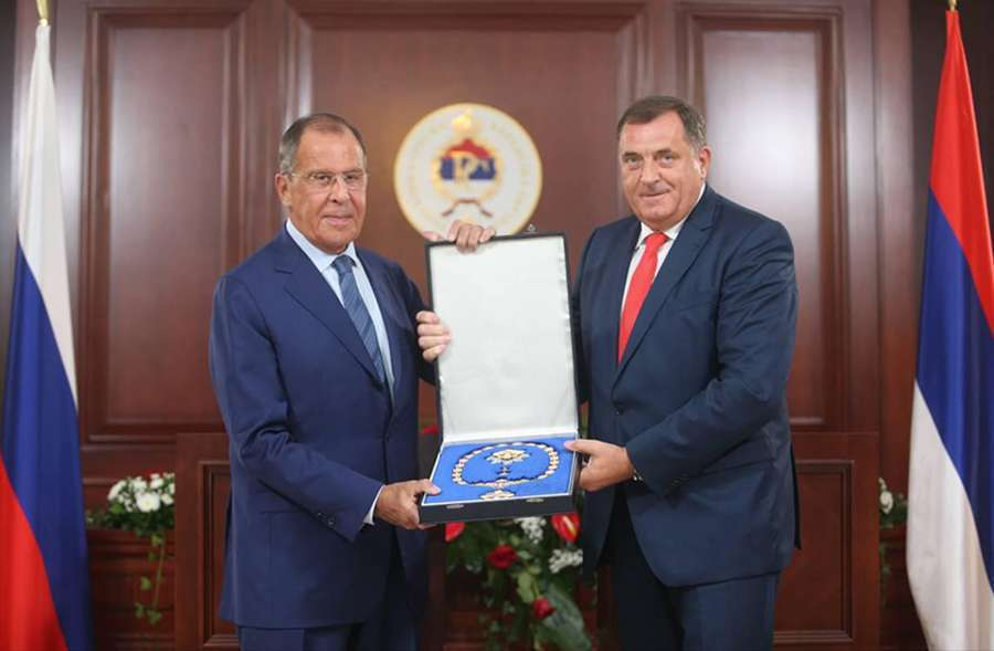 Lavrov u Banjaluci: Dodik uručio odlikovanje ruskom ministru inostranih poslova
