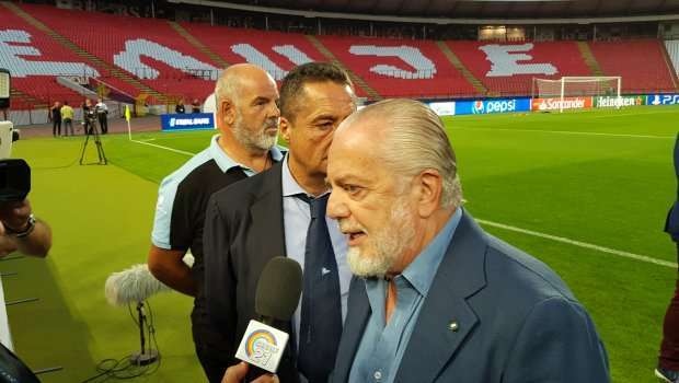 Predsednik Napolija otkrio šokantan scenario: Evo šta će se desiti ako izbace Zvezdu iz Lige šampiona! (VIDEO)