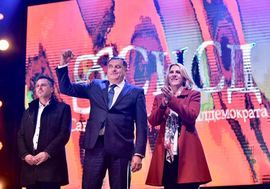 Dodik na završnom mitingu SNSD u Banjaluci: Uvjeren sam u veliku pobjedu
