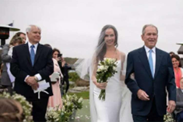 Džordž Buš otpratio ćerku do oltara