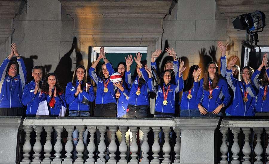 Spektakularan doček za svjetske šampionke