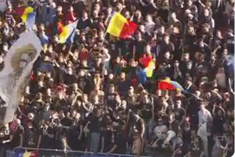"""Navijači Rumunije skandirali """"Kosovo je Srbija"""" (VIDEO)"""