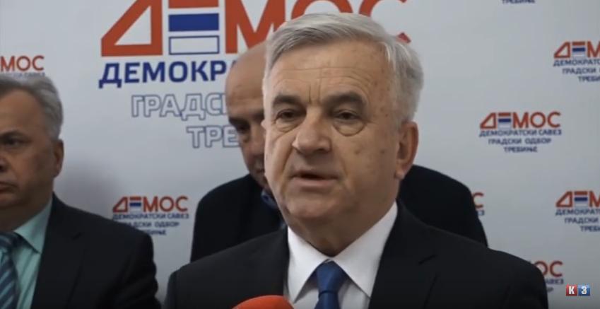 DEMOS podržao kandidata SNSD-a Mirka Ćurića za gradonačelnika Trebinja (VIDEO)