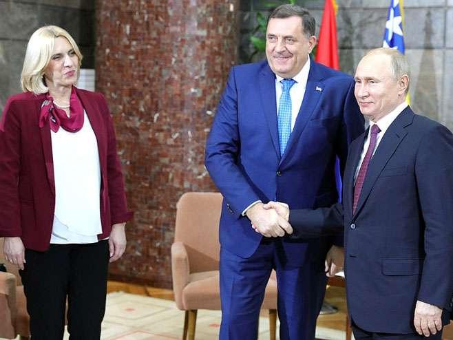 Nastaviti dobru saradnju sa Rusijom – poručili Dodik i Cvijanović (VIDEO)