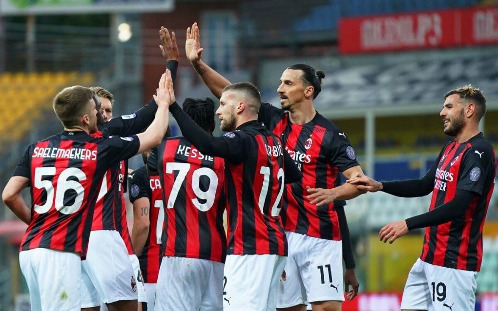 Milan slavio u Parmi