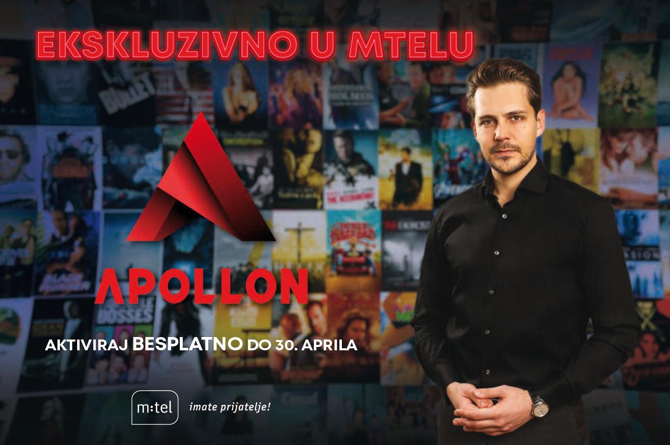 Apollon je stigao u m:tel; Uživajte u novoj videoteci besplatno do kraja aprila