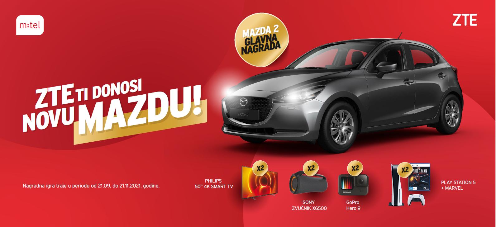 """Kupovinom telefona """"ZTE"""" do automobila """"Mazda"""""""